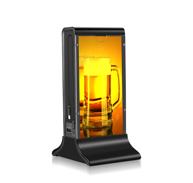 FYD-835B LED Backlights Restaurant Menu Power Bank Tabletop Charger