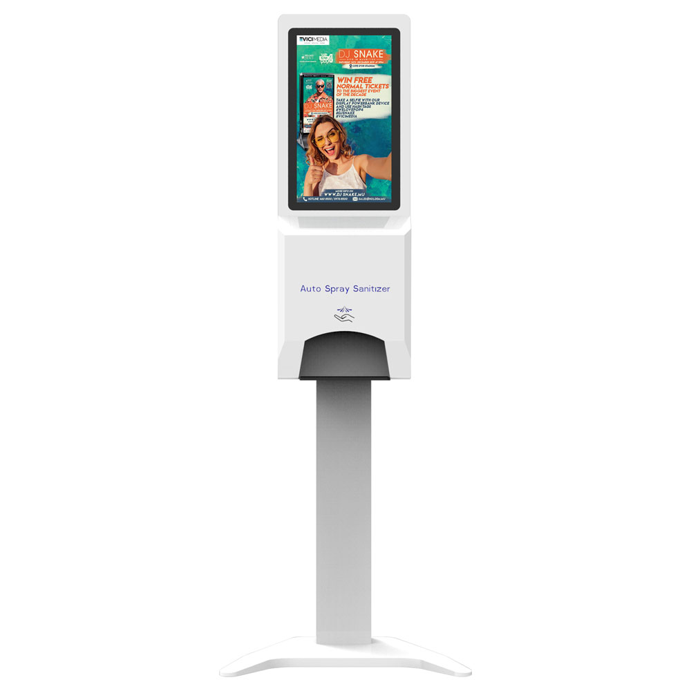21.5 Inch Automatic Hand Sanitizer Dispenser Display Digital Signage